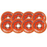 Revision Wheels Inline Roller Hockey Clinger Orange 76mm 80mm 82A HILO SET