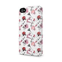 Soft Red Rose Blossom & Parfume Pattern Apple iPhone 4, iPhone 4s Plastic Phone Protective Case Cover