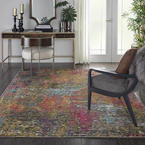 Nourison CES14 Celestial Colorful Modern Multicolor Area Rug 6'7