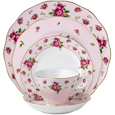 Click for Royal Albert New Country Roses Pink Vintage Formal Place Setting, 5-Piece