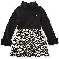Calvin Klein Girls' Mix Fabric Dress