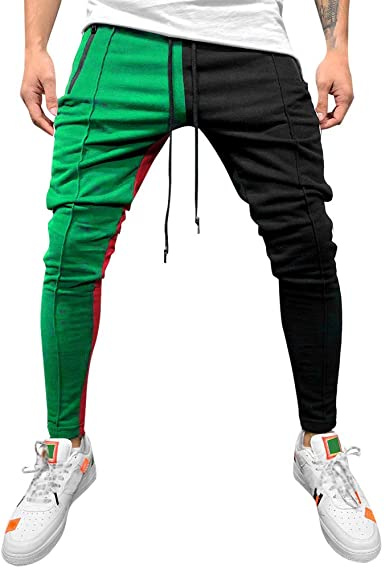 Tymhgt Mens Pure Color Pocket Jogger Pants Baggy Harem Hiphop Sweatpants