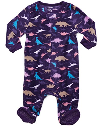 Fleece Footed Sleeper Dinosaurs Girl 6-12 - Infant Sleepers Fleece