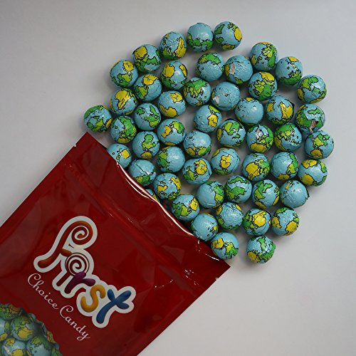 FirstChoiceCandy Chocolate Earth Balls 2 Pound Resealable Bag Chocolate Balls Candy