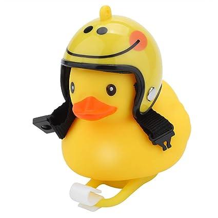 Bicycle Duck Light Bike Horn Bell Cartoon Helmet With Light Motorcycle Handle JG