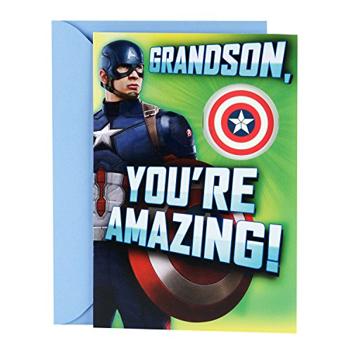 Hallmark Easter Greeting Card for Grandson (Captain America Temporary - Lentes America's Best