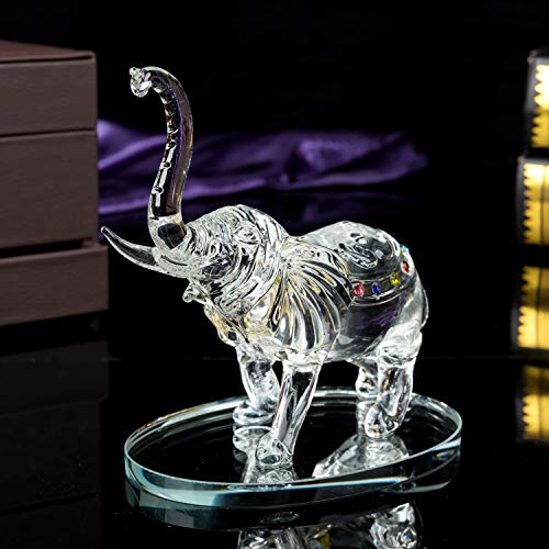 London Boutique Decorative Crystal Glass Animal Elephant Ornament Figurines Giftware Present Mother Child Single Buy Online In Dominica At Dominica Desertcart Com Productid 86293018