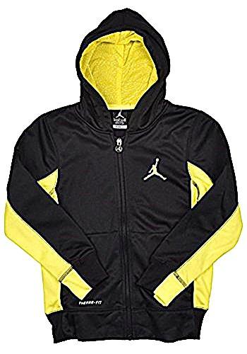 a7c492971d4729 Nike Air Jordan Jumpman Boys Therma-Fit Hoodie Jacket Black Yellow - Small