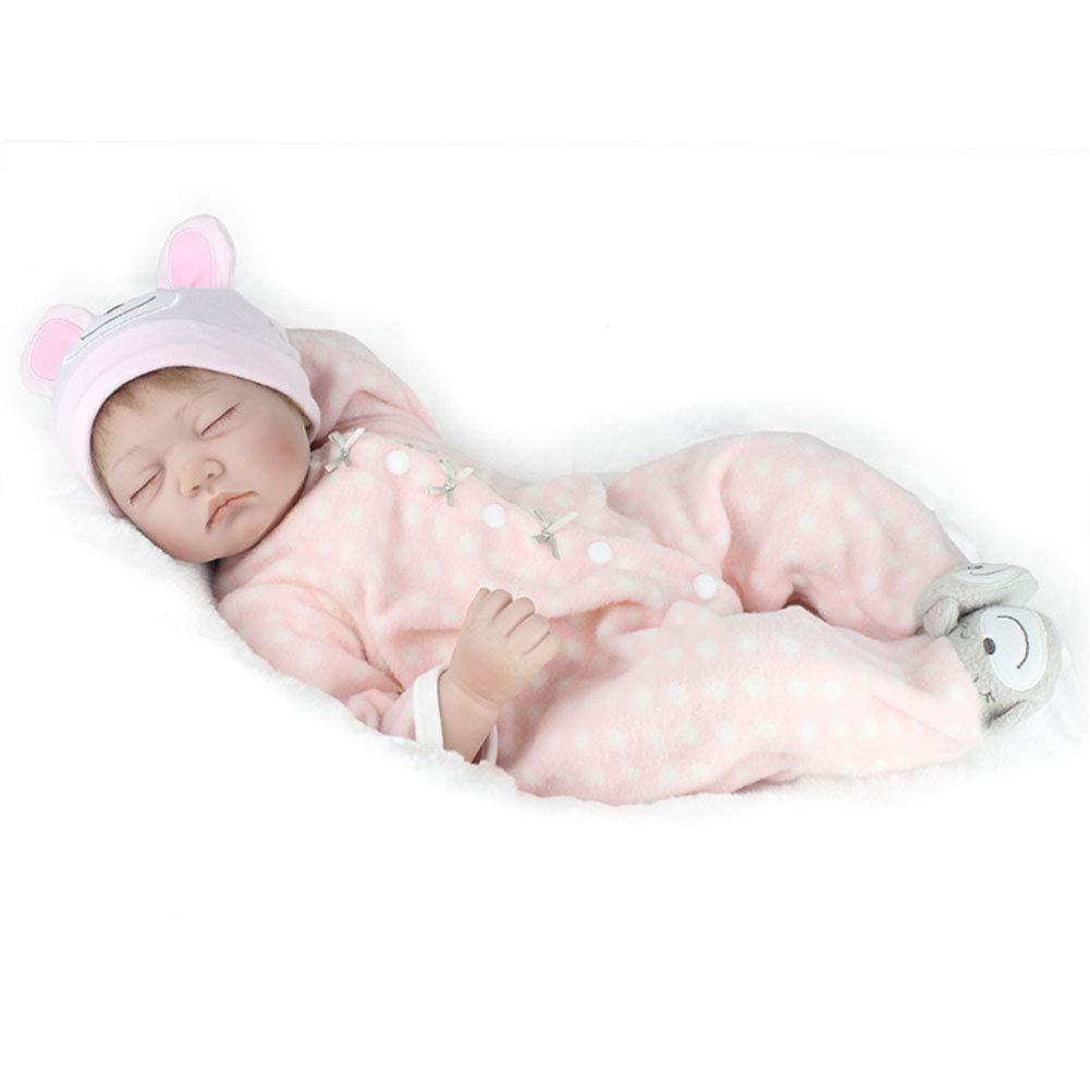CHENG Reborn Toddlers 21Inch Full Body Real Touch Rinnovo Realistica con Regalo di Natale Fittizio,Colore1,55Cm