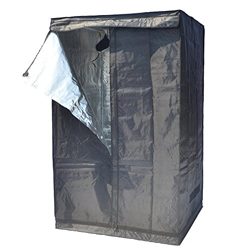 "51oNlanPLsL - Indoor Grow Tent,Smart 32""x32""x62"" Reflective 600D Mylar Hydroponic Grow Tent with Heavy Duty Anti-Rust Zipper for Indoor Plant Growing Black 3'x3'"