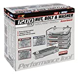 Performance Tool W5226 1,200pc SEA/Metric Nut & Bolt Assortment With Case