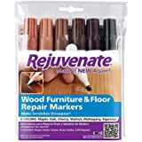Rejuvenate Wood Furniture & Floor Repair Markers Make Scratches Disappear In Any Color Wood, 6 Pieces