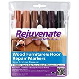Rejuvenate RJ6WM Wood Furniture and Floor Repair Markers, Combination