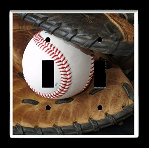 gle) Light Switch Plate Cover - Sports Recreation - Baseball and Glove ()