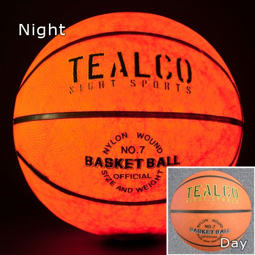 TealCo Light-Up Basketball - Full Size! Tough! Brighter Than Glow in The Dark!