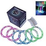 Cofufu 6PCS Fluorescence Stick / Electronic LED flash Bracelet / Light-emitting bracelet + 6 Sets Spare Batteries