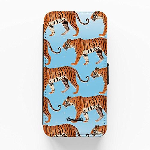 Tiger Pattern Hochwertige PU-Lederimitat Hülle, Schutzhülle Hardcover Flip Case für iPhone 6 Plus / 6 Plus vom BYMBOW + wird mit KOSTENLOSER klarer Displayschutzfolie geliefert