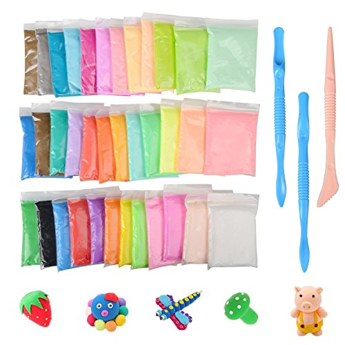 DIY Fluffy Slime Kit, Togather 36 Pack Putty Floam Slime Stress Relief Toys No Borax Gift for Adults and Children
