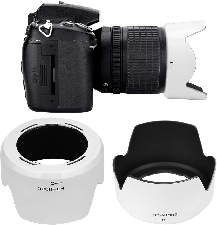 White Vbestlife Camera Lens Hood HB-N103II Plastic Camera Mount Lens Hood for Nikon 1 VR 30-110mm f//3.8-5.6//for Nikon 1 VR 10-30mm f//3.5-5.6.