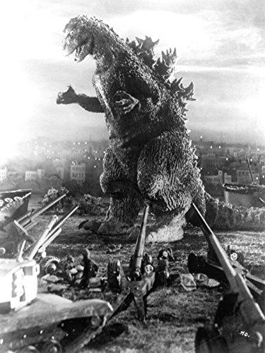 Godzilla 1954 Retro Movie Vintage BW 32x24 Print Poster