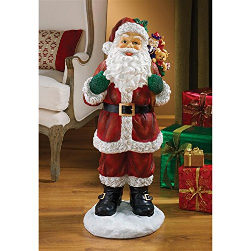 Christmas Decorations - A Visit from Santa Claus and his Bag of Christmas Toys Holiday Decor ()