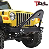 Tidal Black Textured Stinger Front Bumper W/D-ring for 87-06 Jeep Wrangler TJ/YJ