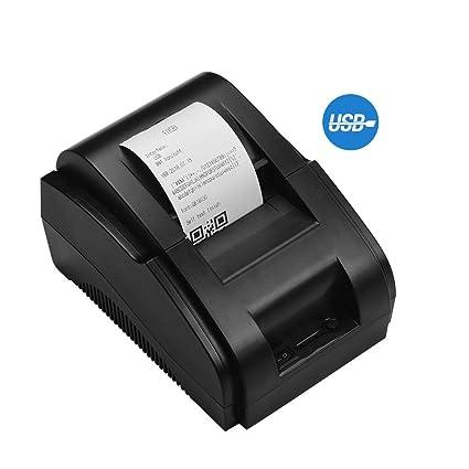Aibecy Impresora de recibos térmica directa de escritorio de 58 mm ...