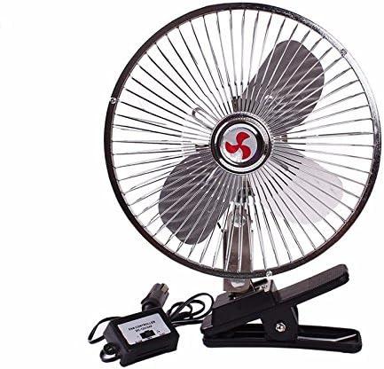 JISHUQICHEFUWU Ventiladores Fan del Coche/Coche/Mini Ventilador/sacudiendo Ventiladores de Techo, Plata 12v, 22cm
