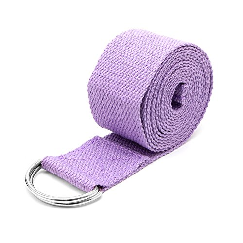 Redriver Yoga Stretch Strap Belt Gym Waist Leg Training Fitness 183cm Adjustable (Violet)