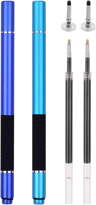 Entweg 2 in 1 Precision Disc Stylus Pen with Refill and Capacitive Touchscreen Pen for Cellphone Tablet 2pcs