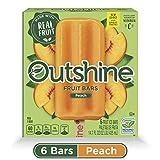 OUTSHINE Peach Frozen Fruit Bars, Gluten Free, Non GMO, 6 Count per box, 14.7 Fl Oz
