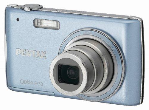 PENTAX デジタルカメラ OPTIO (オプティオ) P70 ライトブルー 1200万画素 光学4倍ズーム OPTIOP70RB