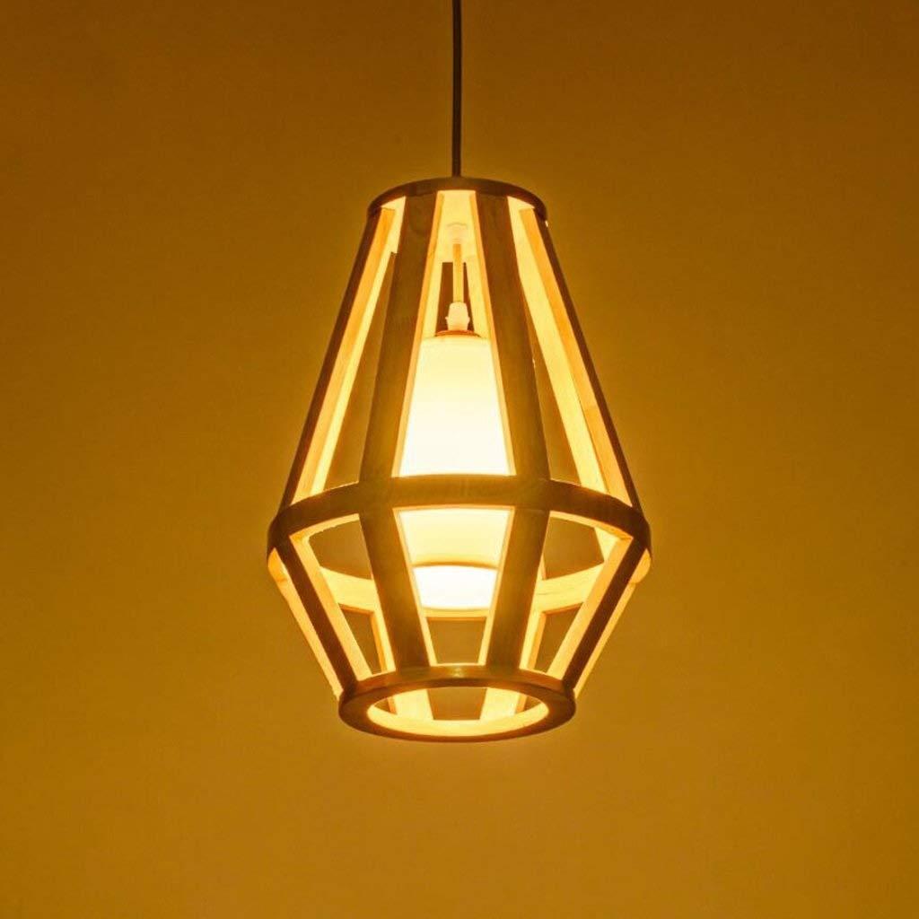 YWAWJ ペンダント照明、和風木製人格レストランクリエイティブライト畳シャンデリアティーハウス北欧農村シャンデリア B07SKQVQJ3