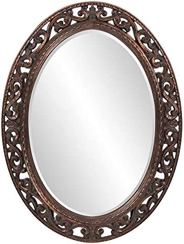 Howard Elliott Suzanne Oval Hanging Wall Mirror
