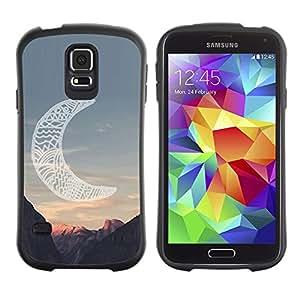 LASTONE PHONE CASE / Suave Silicona Caso Carcasa de Caucho Funda para Samsung Galaxy S5 SM-G900 / moon native American Indian canyon