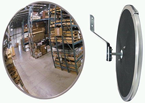#1 Industrial Rated 12'' Dia. Acrylic Indoor/Outdoor Safety & Security Convex Mirror Made in The USA by Mirrors Worldwide