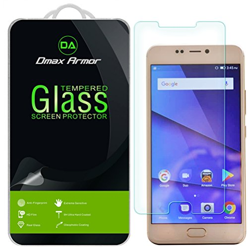 [2-Pack] Dmax Armor for BLU Vivo 8 [Tempered Glass] Screen Protector