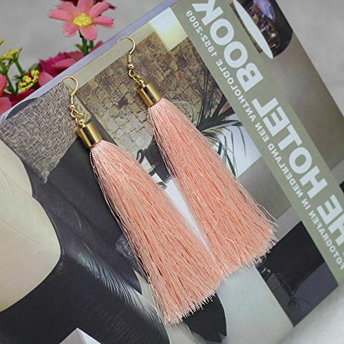 Waldenn Women Fashion Bohemian Earrings Vintage Boho Long Tassel Fringe Dangle Earrings | Model ERRNGS - 9264 |