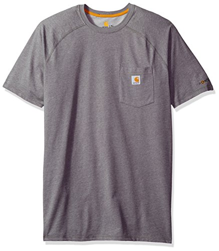 Carhartt Men's Big Force Cotton Delmont Short Sleeve T-Shirt (Regular and Big & Tall Sizes), Granite Heather, 3X-Large Tall