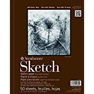 """Strathmore 455-9 400 Spiral Binding Acid-Free General Purpose Sketch Pad, 60 lb, 9"""" x 12"""" Size, 50 Sheets, 0.31"""" Height, 12"""" Width, 9.25"""" Length"""