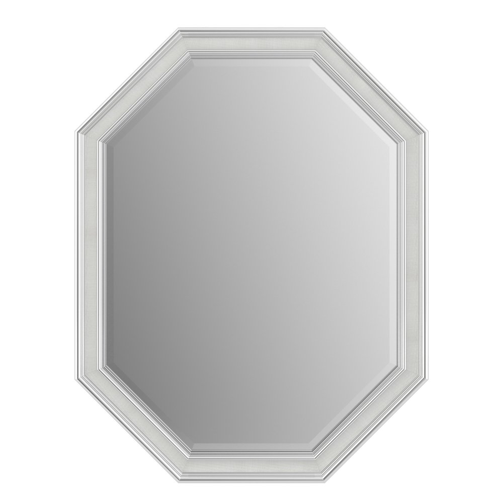 Delta Wall Mount 26 in. x 34 in. Medium (M2) Octagonal Framed Flush Mounting Bathroom Mirror in Matte Black with TRUClarity Deluxe Glass Liberty Hardware AFMRM2-BDH-R