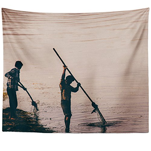Westlake Art - Wall Hanging Tapestry - People Fishing - Phot