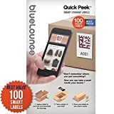 [Quick Peek] Smart Storage Sticker / Adhesive Labels for Moving Boxes Shoe Organizer Storage Container Drawer Cabinet for Office Home Business Commercial Warehouse 100 Labels - Apple iOS iPhone only