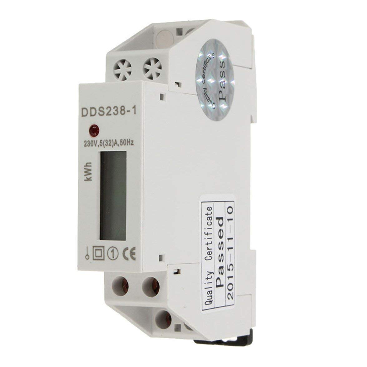 Kongqiabona DDS238-1 5 elektronischer Typ Mini-Elektroenergiez/ähler Einphasig-Schienen-Typ mit 230 V 32 50 Hz // 60 Hz LCD-Anzeige