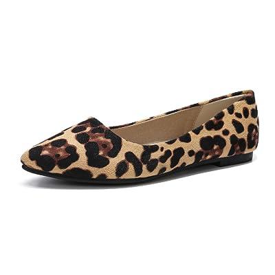 MAIERNISI JESSI Women's Casual Leopard Print Ballet Flat Shoes | Flats