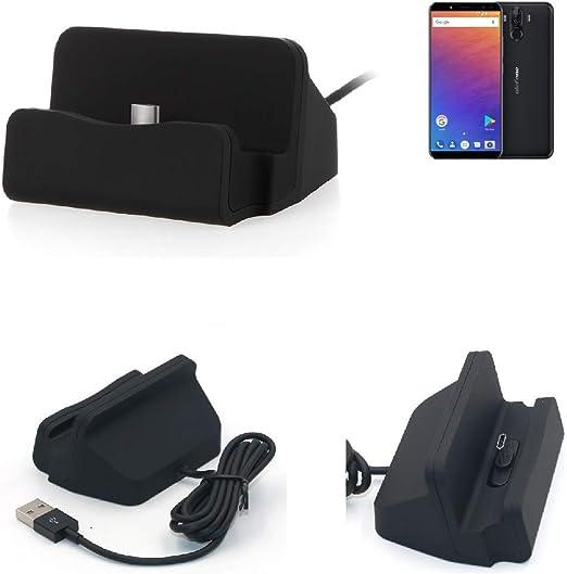 K-S-Trade Dock USB para El Ulefone Power 3, Negro | Estación De ...