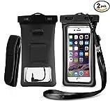 Best Iphone 6 Plus Waterproof Cases - [2 PACK] Floatable Waterproof Universal Cellphone Case Review