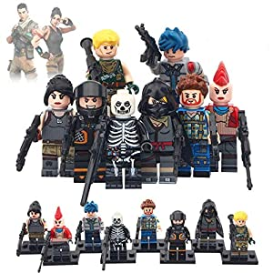 FortGear Toy Figures 8pcs in 1 Set + 25 Stickers Bonus - Battle Royal Figures for Boys, Girls and Battle Royal Fans