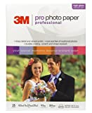 3M Premium Photo Paper, 8-1/2 Inches x 11 Inches, High Gloss Finish, 25 Sheets per Pack
