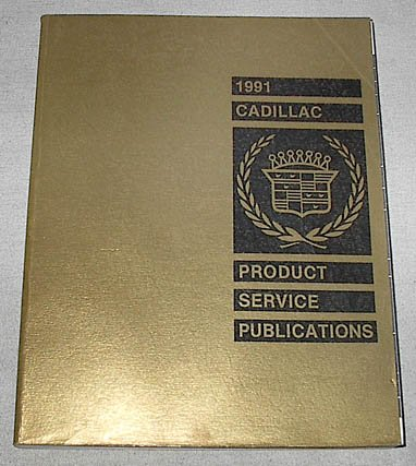 1991 Cadillac Product Service Publications (PSP's) [Allante, Brougham, Cimarron, DeVille, Eldorado, Fleetwood, Seville models]